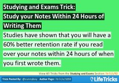 Study your Notes Within 24 Hours of Writing Them