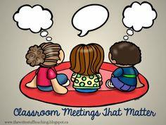 TheWriteStuffTeaching: Classroom Meetings That Matter: A Bright Idea