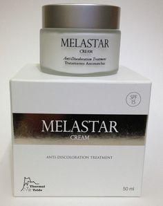 Melastar cream antioxidante y despimentante ayuda a eliminar las manchas localizadas de la piel tarro de 50 ml.