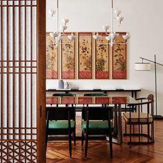 Asian Architecture, Korean Traditional, Apartment Interior, Oriental, Interior Design, House Styles, Table, Furniture, Home Decor