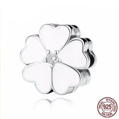 Cheap charm bracelet gold, Buy Quality charm cosmetics directly from China charms watch Suppliers: BAMOER 925 Sterling Silver WHITE PRIMROSE CLIP Charms for Charm Bracelet Women Beads Jewelry Making Pandora Original, Cheap Charm Bracelets, Silver Prices, Clip, Pandora Jewelry, Luxury Jewelry, Silver Charms, Jewelry Making, Diy Jewelry