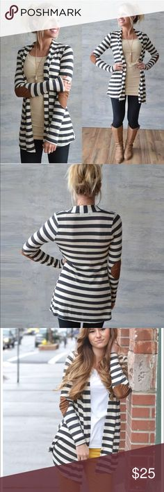 ON SALE!! Last one Striped elbow patch cardigan Striped elbow patch cardigan Sweaters Cardigans
