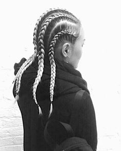 corn rows, braids, fitness, updo, sleek