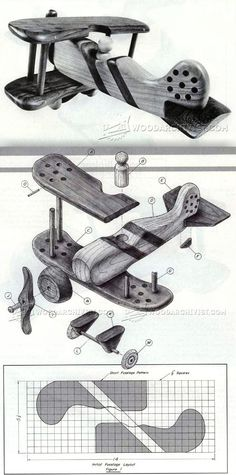 Wooden Biplane Plans - Wooden Toy Plans and Projects | WoodArchivist.com
