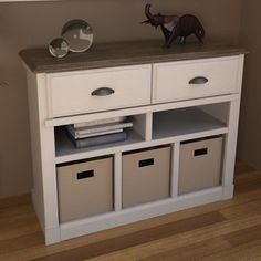 The Ameriwood Entry Hall Storage Unit Provides Two Drawers And Three Storage  Bins To Organize And