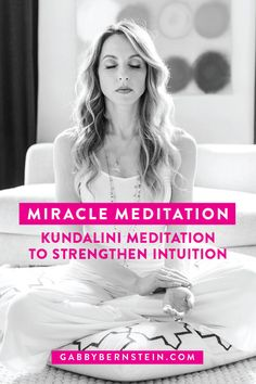 I call the Kundalini Meditation to Expand into Intuitive Knowing the miracle meditation, because it heightens your intuition and produces radical transformations. Learn how to practice this Kundalini meditation. Kundalini Meditation, Meditation For Beginners, Meditation Benefits, Meditation Techniques, Healing Meditation, Meditation Music, Mindfulness Meditation, Guided Meditation, Kundalini Mantra