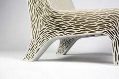 Flexible 3d printed chair