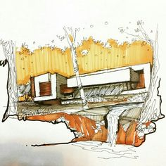 By @jahan_arch Send us your sketchs Using #arch_more