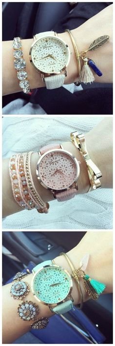 Fashion Woman Pu leather watches