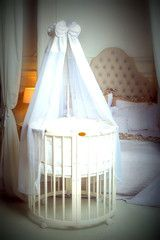 White cot bed, so cute! White Cot Bed, Cots, Cot Bedding, Playpen, Your Child, Mattress, Toddler Bed, Armchair, Furniture
