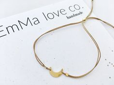 Moon Bracelet / Stackable Bracelet / Minimalist Bracelet /