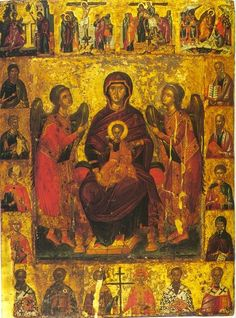 Typical Russian, Church Interior, Orthodox Icons, Holy Spirit, Angels, God, Painting, Holy Ghost, Dios