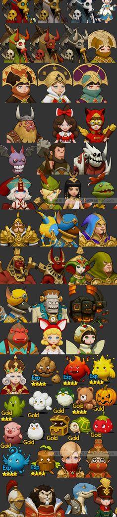游戏美术资源/韩游UI /icon图标/Q版资源/场景手游角色人物3D模型-淘宝网全球站