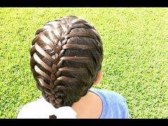 Feathered Triple French Braid - YouTube