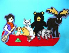 "Flannel Board Story ""One-Dog Canoe"" from Rachel Moani: will it float? Enrichment Activities, Preschool Literacy, Toddler Preschool, Toddler Crafts, Book Activities, Flannel Board Stories, Felt Board Stories, Felt Stories, Flannel Boards"