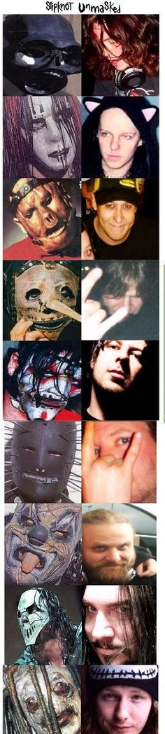 slipknot unmasked. They look awesome either way