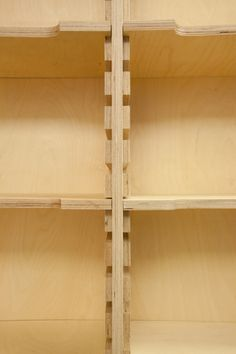 24 Cafe Ato by Design BONO, Seoul. Interesting shelf design. Close-up of cleat.