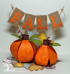 Pumpkins made from the bow die