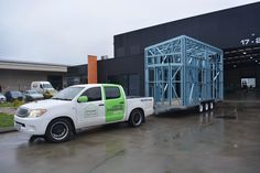 View our portfolio of steel framing structures, ranging from residential, commercial and educational buildings. Trailer Build, Tiny Homes, Steel Frame, Van, Houses, Architecture, Building, Homes, Arquitetura