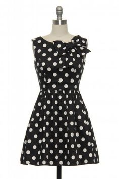 Polka Dots and Bow Dress