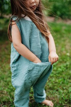 Linen Jumpsuit Mint Green Baby Overall Linen Overall Baby