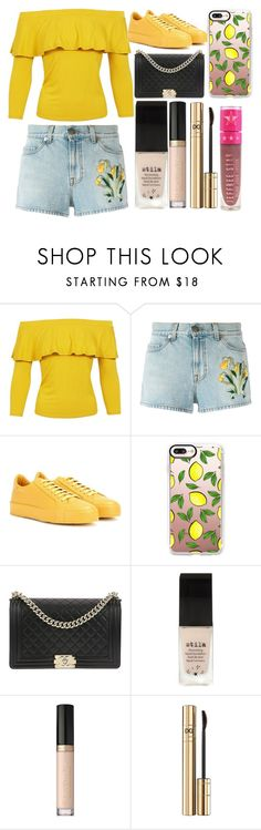 """""""when life gives you lemons"""" by millieisabellanicol ❤ liked on Polyvore featuring Sans Souci, Gucci, Jil Sander, Casetify, Chanel, Stila, Too Faced Cosmetics, Dolce&Gabbana and Jeffree Star"""