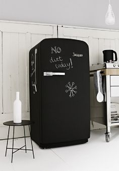 my next project painting our old ugly white fridge with chalkboard paint