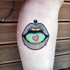 Тату мастер XXMIKA BABYXX цветная абстрактная татуировка нью скул | Tattoo artist XXMIKA BABYXX color abstract new school tattoo