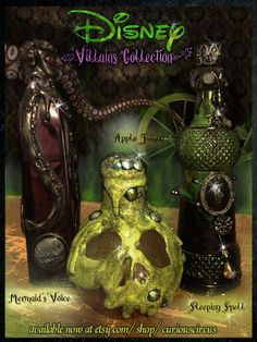 Disney Villain Inspired Potion Bottle Collection by CuriousCircus, $38.50