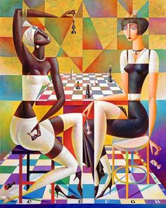 20 Mind Blowing and Beautiful Cubist Art Works By Georgy Kurasov Cubist Artists, Cubism Art, Art Pop, Modern Art, Contemporary Art, Pick Art, Georges Braque, Colorful Paintings, Fantasy Art