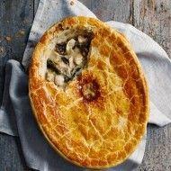 Chicken and mushroom pot pie