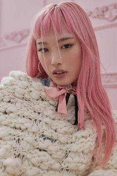 Fernanda Ly photographed by Zoey Grossman for For Love & Lemons Fall 2017 Knitz Collection Green Hair, Blue Hair, Pink Hair, Pose, Crown, For Love And Lemons, Photoshoot Inspiration, Pink Aesthetic, Fall Hair