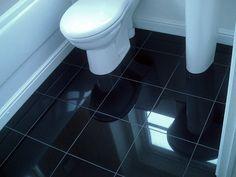 Black Ceramic Bathroom Floor Tile Options