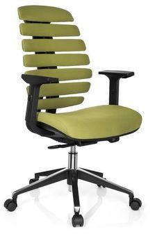 #Bürostuhl / #Drehstuhl ERGO LINE II Stoff grün hjh OFFICE