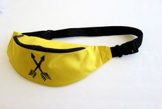Arrow Fanny Pack/Tribal Fanny Pack/Yellow Fanny Pack/ by EcoClutch