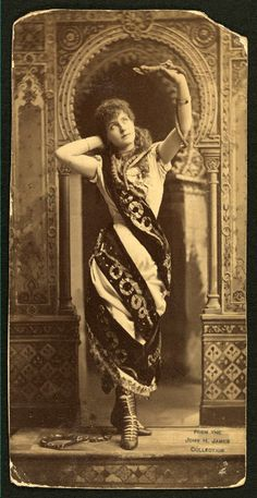 Lillian Russell in The Snake Charmer (c.1880s)