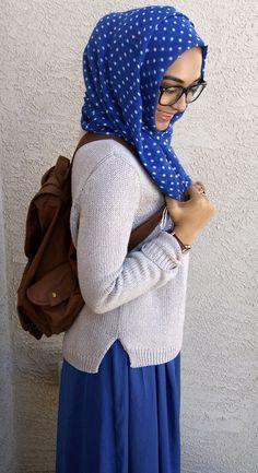 Cuute! #hijab #polkadots