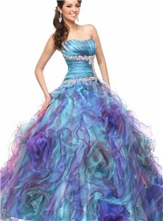 Luxurious Ball Gown Floor Length Strapless Beading Quinceanera Dress