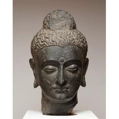Head of Buddha, Gandharan period, 3rd century, Schist, India, Dallas Museum of Art