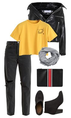 """""""Alienated"""" by nblworld on Polyvore featuring Balenciaga, RE/DONE, MANGO, Givenchy and MyFaveTshirt"""