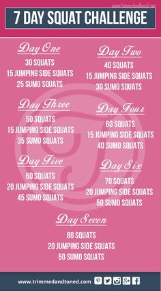 Check out this amazing 7 day squat challenge! Brilliant results fast!