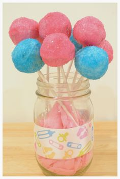 Baby Shower Cake Pops! Great for a Gender Reveal Party! Boy or GIrl!? @ ChantelandBella.com