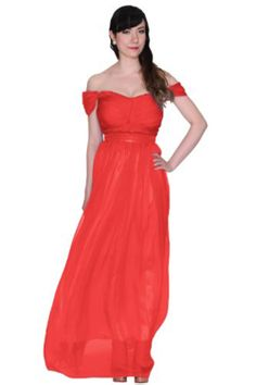 Women's Double Straps Off Shoulder Maxi Evening Dress Formal Gown