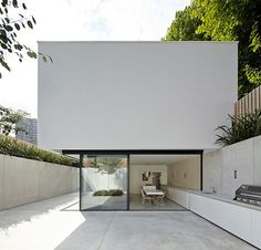 Architecture. Contemporary. White Building. Design. Box. Glass.