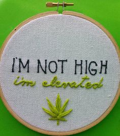 10 Embroidery Hoops That Make Dope Gifts For Stoners Embroidery Floss Projects, Embroidery Letters, Embroidery On Clothes, Hand Embroidery Designs, Diy Embroidery, Cross Stitch Embroidery, Embroidery Hoops, Embroidery Jewelry, Tumblr Embroidery
