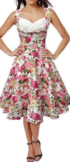 Pink Sleeveless Vintage Dress