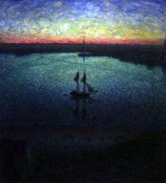 Evening Landscape mid Summer  - Eugene Jansson 1898Zwedish 1862-1915