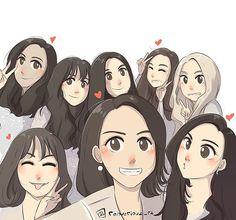 Our loves!!!  @taeyeon_ss @xolovestephi @watasiwahyo @515sunnyday @yulyulk @yoona__lim @hotsootuff @seojuhyun_s  #taeyeon #tiffany #hyoyeon #seohyun #sooyoung #sunny #yoona #yuri #snsd #fanart #snsdfanart