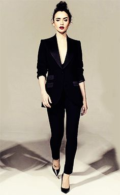 Lily Collins for Hollywood Reporter 'Stars & Stylists'