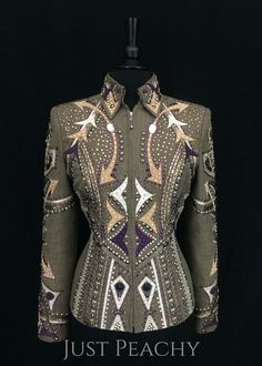 Smoky Taupe Showmanship Suit by Dry Creek Designs ~ Ladies Medium